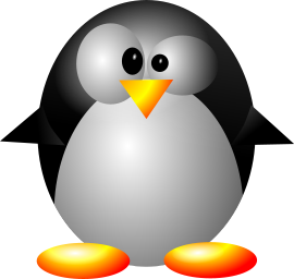 A cartoon-style penguin
